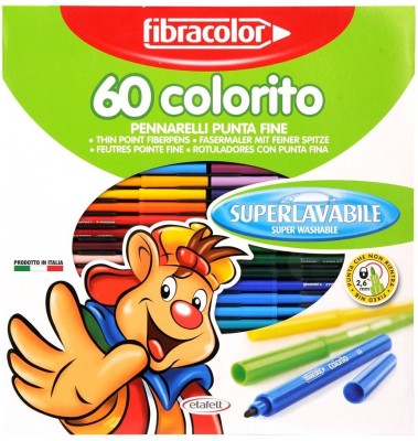 Fibracolor Colorito Superfine Nib Sketch Pens  with Washable Ink