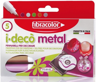 Fibracolor Metal Color Fine Nib Sketch Pens  with Washable Ink