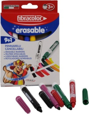 Fibracolor Erasable Color Fine Nib Sketch Pens  with Washable Ink