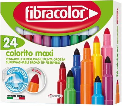 Fibracolor Color Maxi Fine Nib Sketch Pens  with Washable Ink