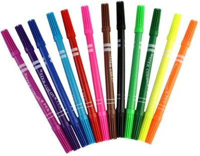 Shrih Double Ended Water Based Inks Nib Sketch Pen(Multicolor)