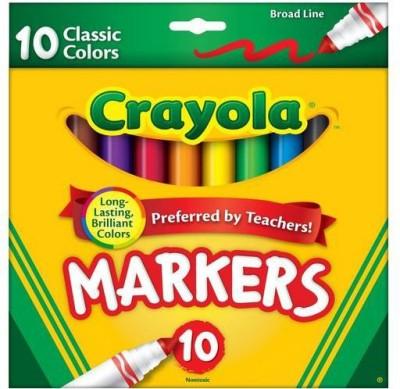 Crayola New Broad Line Nib Sketch Pens