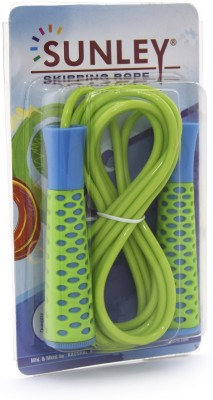 SUNLEY green pvc jump Speed Skipping Rope