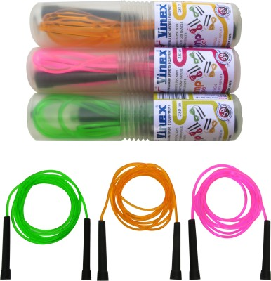 Vinex Vinex Jumping Rope - Premium (PVC, Pack of 3 Pcs) Freestyle Skipping Rope