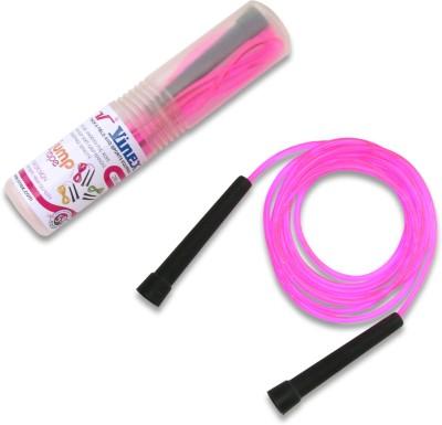 Vinex Vinex Jumping Rope - Premium (PVC, Transparent Pink) Freestyle Skipping Rope