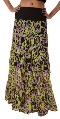 Skirts & Scarves Floral Print Women's A-line Multicolor Skirt