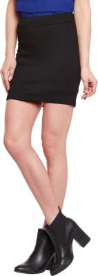 The Vanca Printed Women's A-line Black Skirt at flipkart