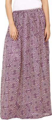 Tops and Tunics Printed Women's Regular Purple, White Skirt