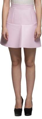 Tryfa Solid Women's Regular Pink Skirt