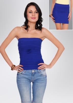 N-Gal Women's Blue Skirt