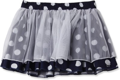 London Fog Polka Print Baby Girl's Gathered Black Skirt