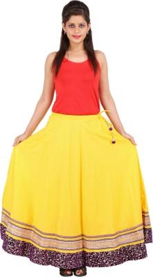 Sunshine Solid Women's A-line Yellow Skirt