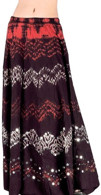Indiangiftemporium Printed Women's Regular Maroon Skirt