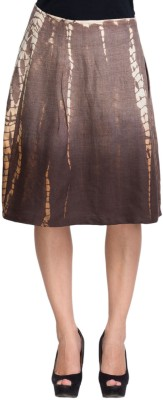 Oxolloxo Solid Women's A-line Brown Skirt at flipkart