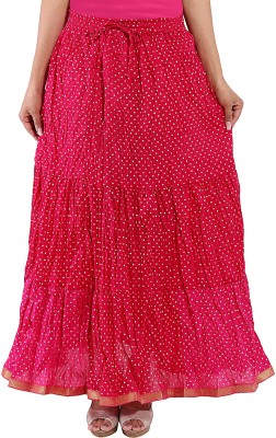 Decot Paradise Polka Print Women's Regular Pink Skirt