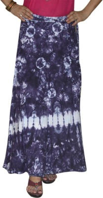 Marusthali Printed Women,s Wrap Around Blue Skirt