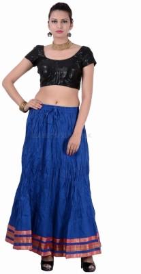 Jaipur Kala Kendra Solid Women's Regular Blue Skirt