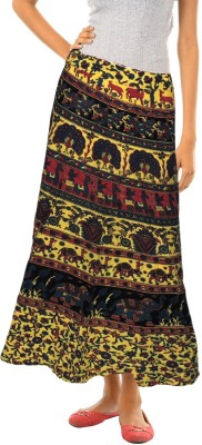Indian Fashion Guru Floral Print Women's Straight Multicolor Skirt