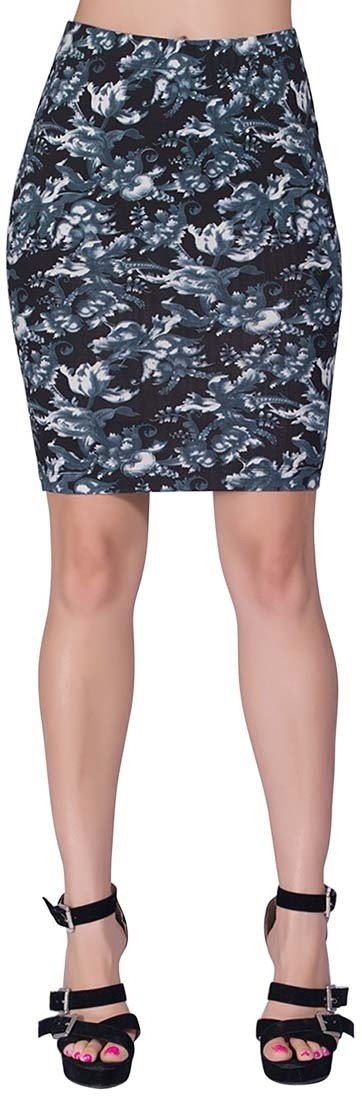 Voustyle Printed Womens Tube Multicolor Skirt