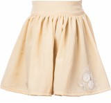 Le Luxe Self Design Girls Gathered Beige...