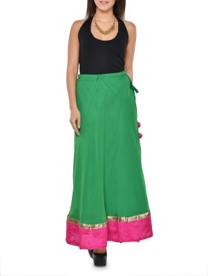 Hoor Solid Women's A-line Green Skirt