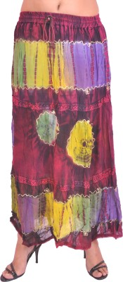 Krazzy Collection Printed Women's A-line Multicolor Skirt