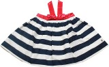 Blue Giraffe Striped Girls Gathered Blue...