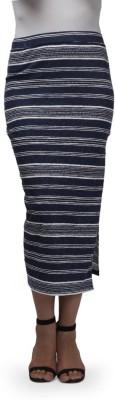 Cherymoya Striped Women's Pencil Multicolor Skirt
