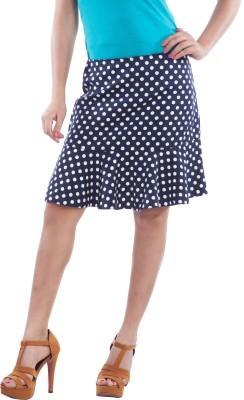 TrendBAE Polka Print Women's Peplum Blue, White Skirt