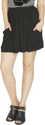 Globus Solid Women's A-line Black Skirt
