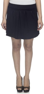 Dee Fashion House Solid Women's Pleated Black Skirt