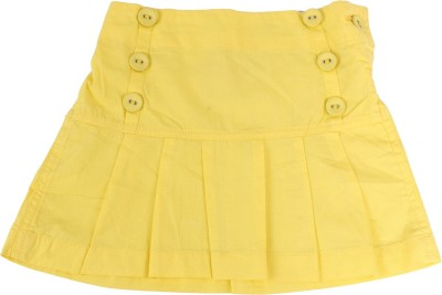 Childkraft Solid Girls Regular Yellow Skirt