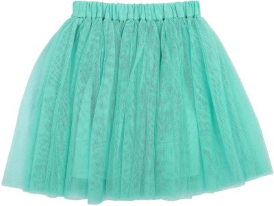 Teeny Tantrums Solid Girl's Layered Light Blue Skirt