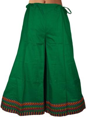 Shopatplaces Solid Women's Regular Green Skirt