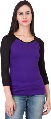 14forty Solid Women's Regular Purple Skirt