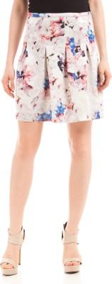 Prym Printed Women's Pleated White Skirt