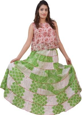 carrol Printed Girl's A-line Pink Skirt