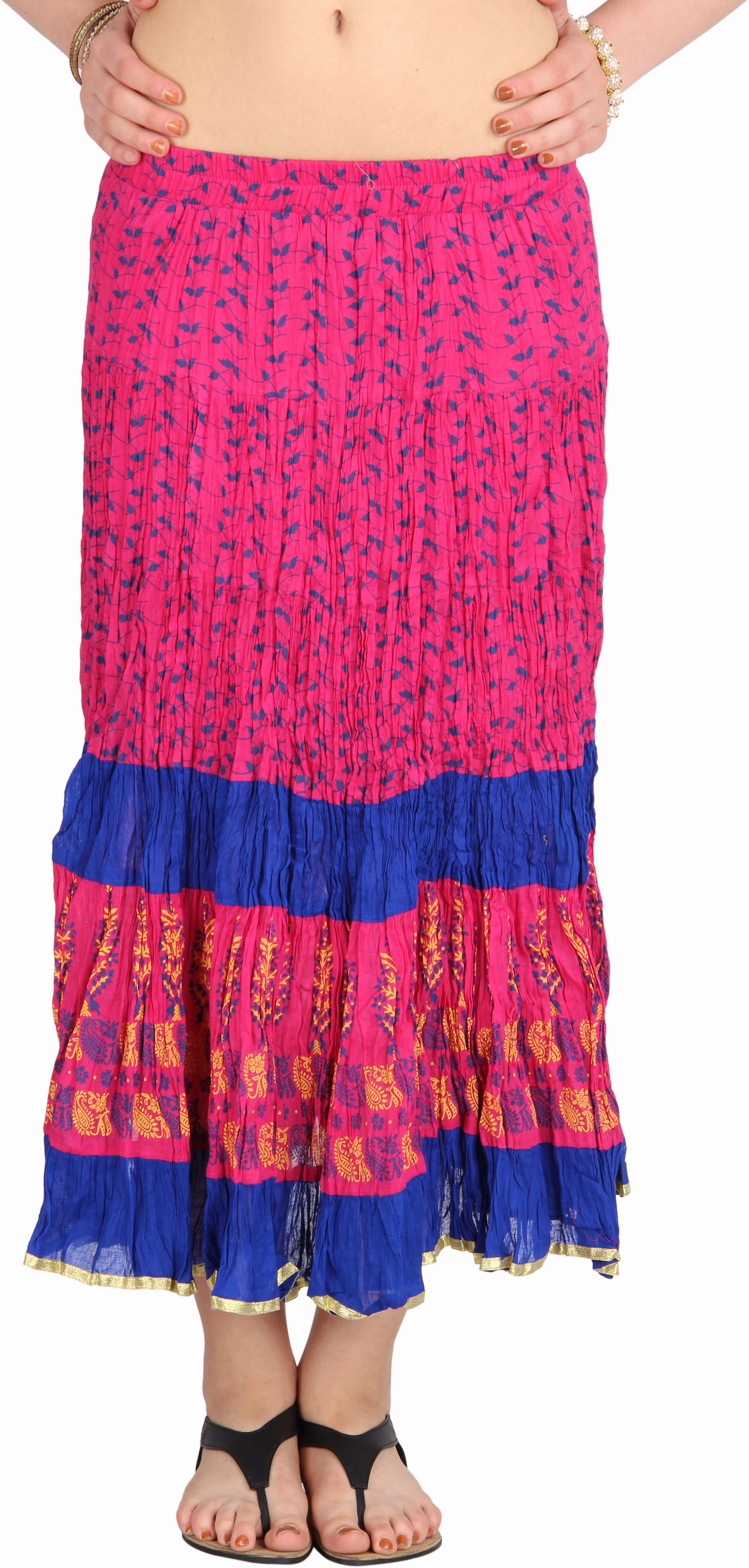 Mina Bazaar Self Design Womens A-line Multicolor Skirt