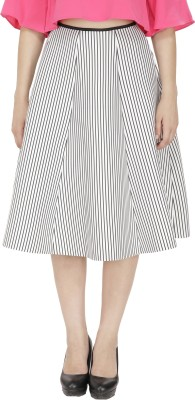 FASHMODE Solid Women's A-line White Skirt
