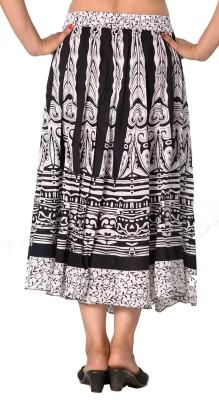 SBS Printed Women's Regular White Skirt