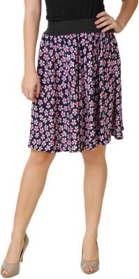 Mojeska Printed Women's A-line Multicolor Skirt