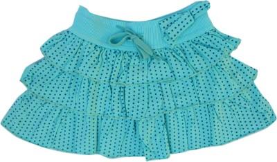 Garlynn Polka Print Girl's Layered Light Blue Skirt