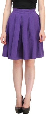 Ladybug Solid Women's A-line Purple Skirt