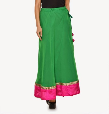 Navyou Solid Women's A-line Green Skirt
