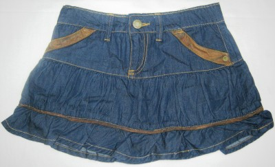 Carmen Casuals Solid Girl's A-line Dark Blue Skirt
