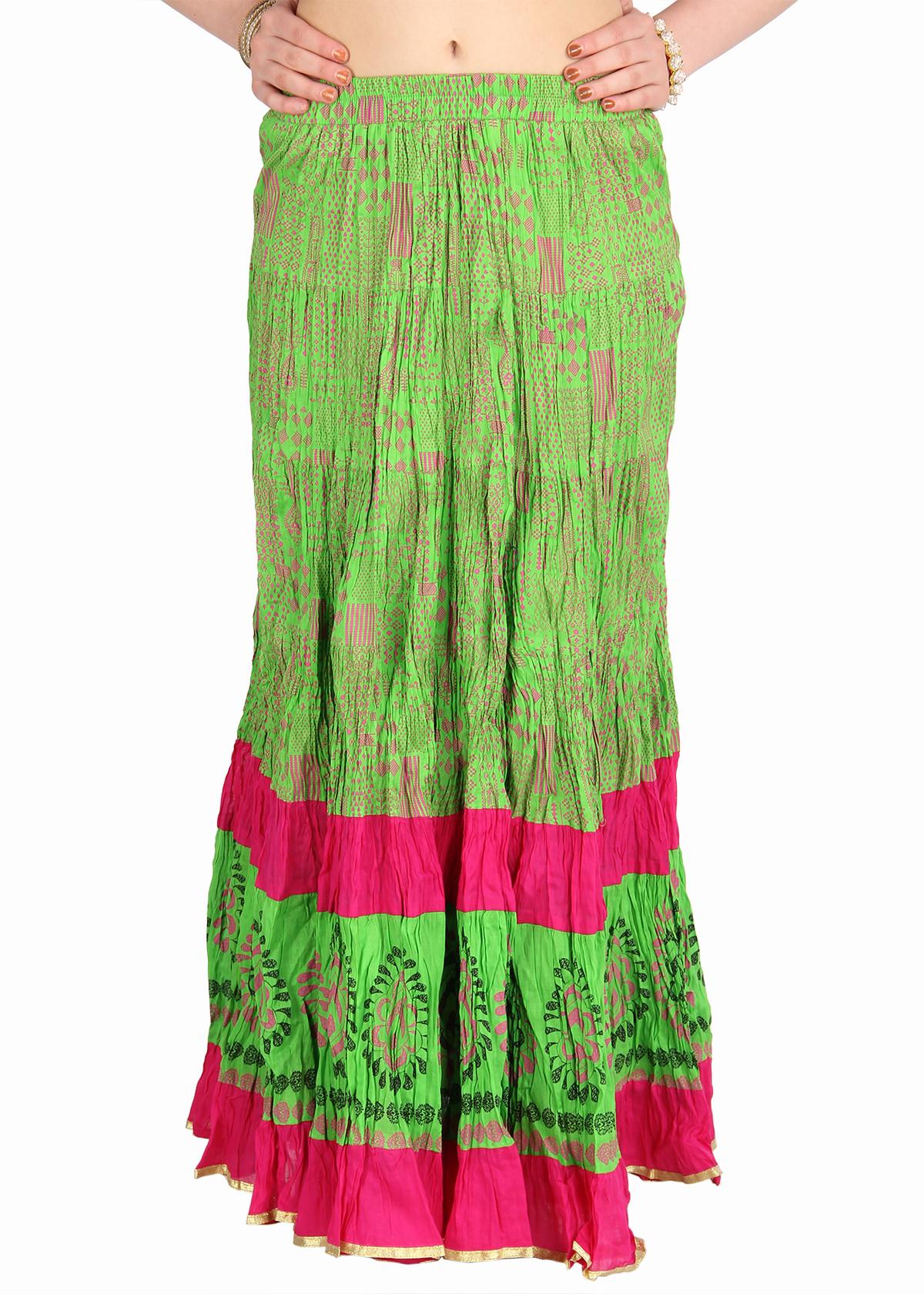 Mina Bazaar Self Design Womens A-line Multicolor Skirt