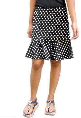 TrendBAE Polka Print Women's Peplum Black, White Skirt