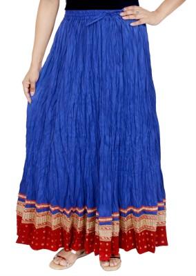 Rangreja Solid Women's A-line Blue Skirt