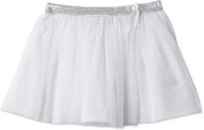 London Fog Solid Baby Girl's Gathered White Skirt