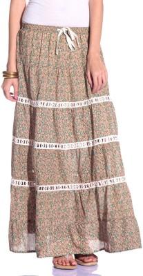 Styleava Printed Women's Regular Multicolor Skirt